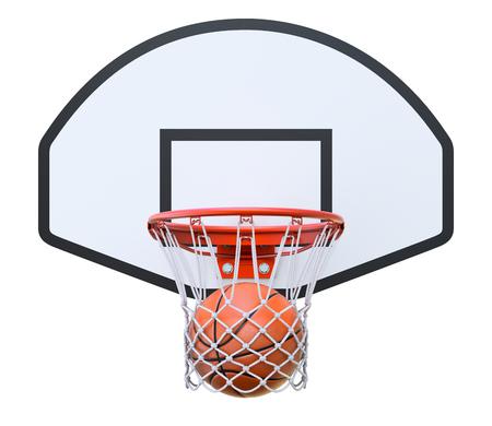 basketball hoop: Basket ball in the hoop