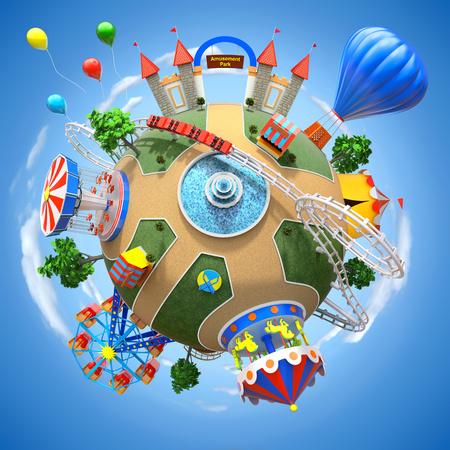 遊園地の惑星