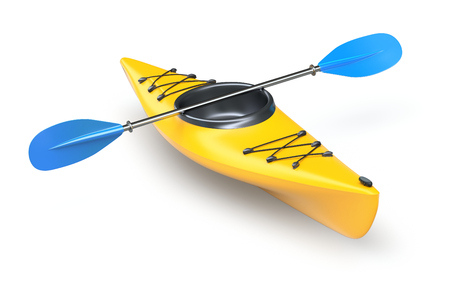 kayaking: Yellow kayak Stock Photo