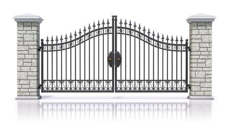 rejas de hierro: Portón de hierro