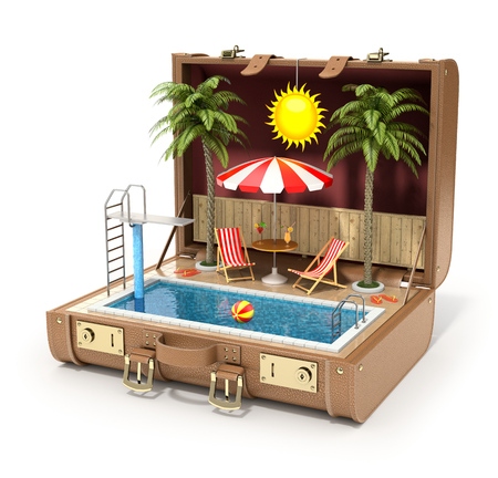 summer vacation: Swimming pool in the case