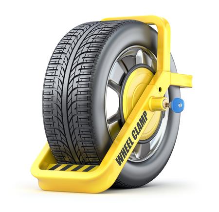 車輪クランプ