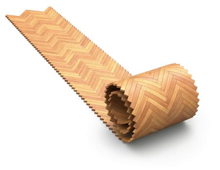 carpet flooring: Herringbone parquet unroll