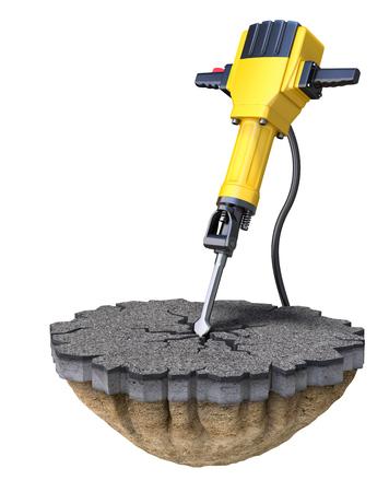 手持ち削岩機