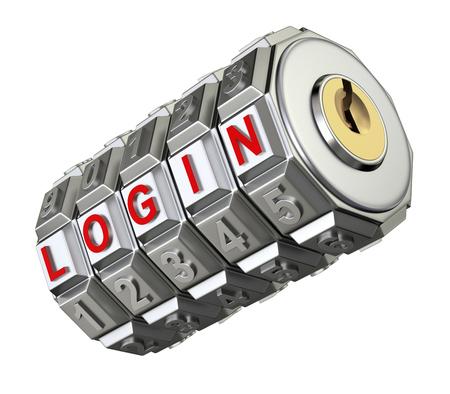 Code mechanism with LOGIN photo