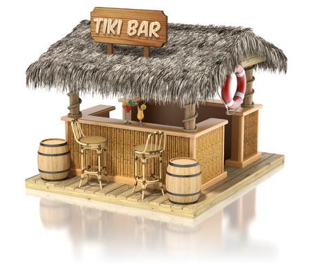 tiki party: Tiki bar