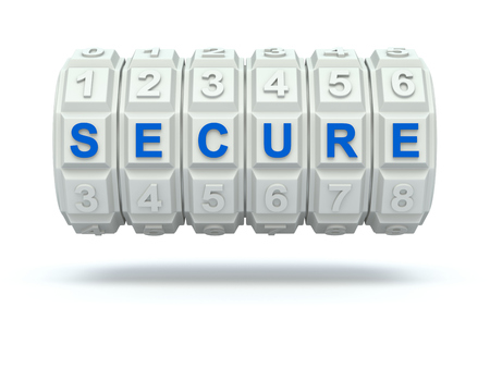 secret word: Combination lock with secure word