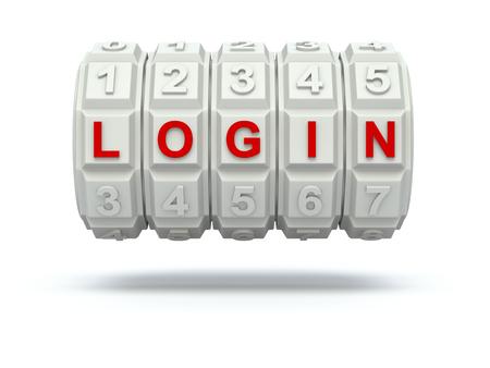 secret number: Combination lock with LOGIN