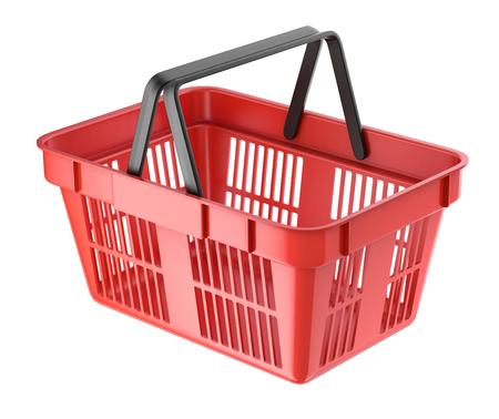 empty basket: Red shopping basket