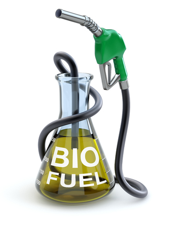 erlenmeyer: Biofuel concept Stock Photo