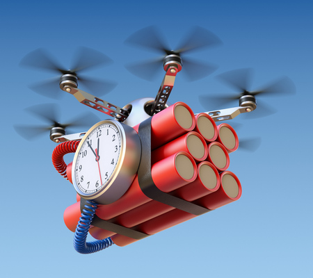 time fly: Drone with time bomb