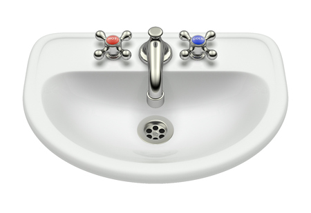 bowl sink: White washing sink