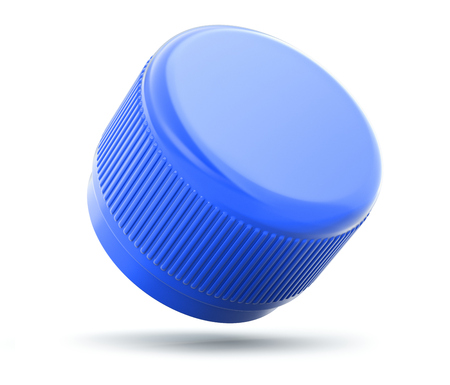 stopper: Plastic bottle cap on white background
