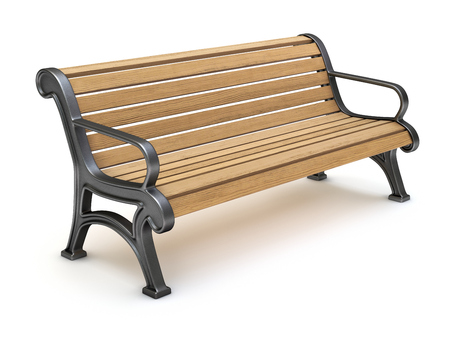 park bench: Bench on white background