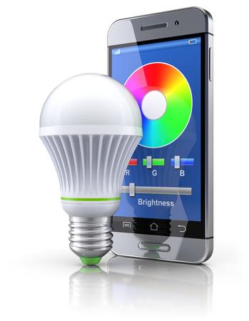 led bulb: Led bulb with mobile wifi remote control