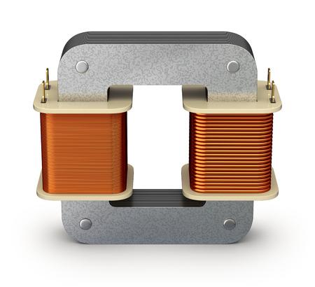 coil: Transformador eléctrico Foto de archivo