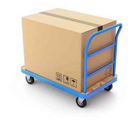 box big: Trolley with big box