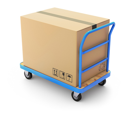 handtruck: Trolley with big box