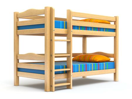 子供の二段ベッド 写真素材