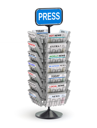 magazine stack: Newspaper stand