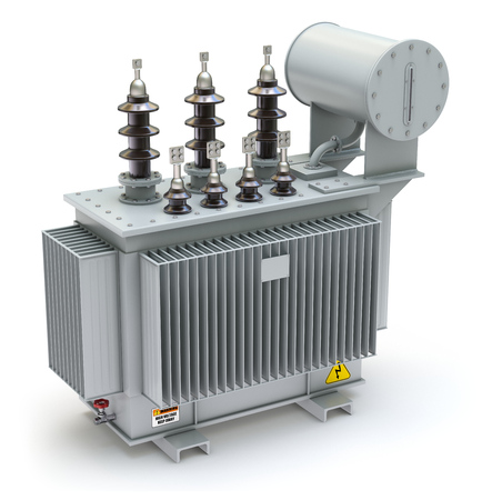 power distribution: High voltage power transformer