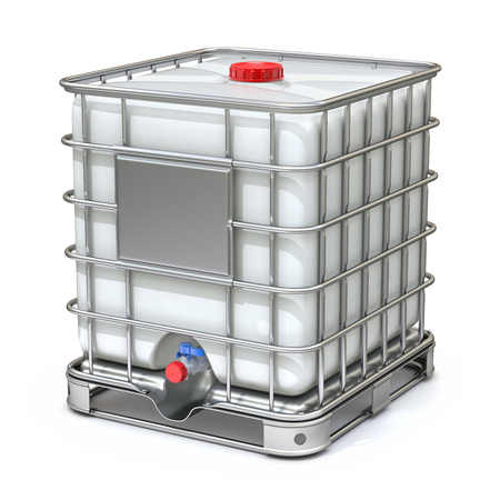 storage container: White plastic water storage tank