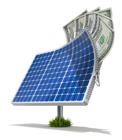 energy saving: Energía Solar concepto de ahorro
