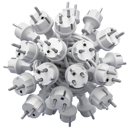 Electric plugs in knotted cable