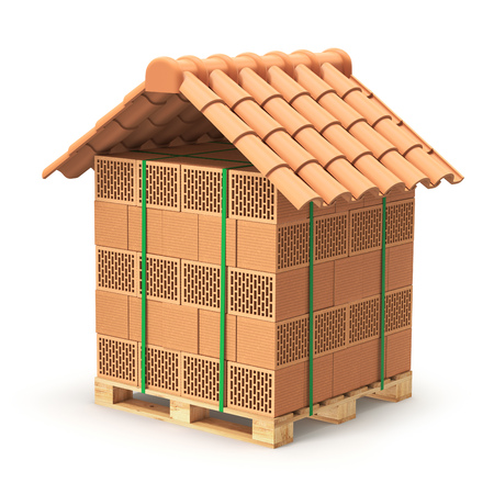 roof tile: Hollow clay blocks with roof tiles