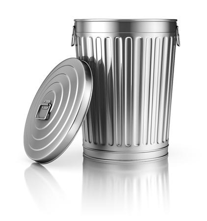 Open trash can 免版税图像
