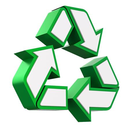 recycling symbols: 3D recycle symbol