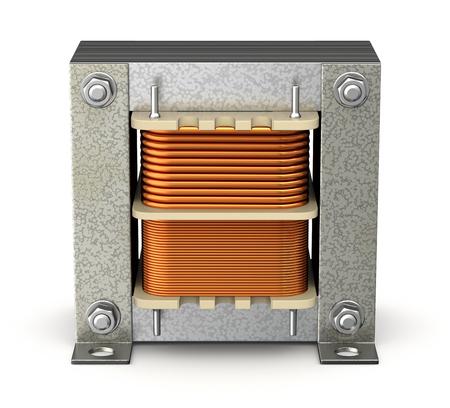 energia electrica: Transformador eléctrico de la cáscara Foto de archivo