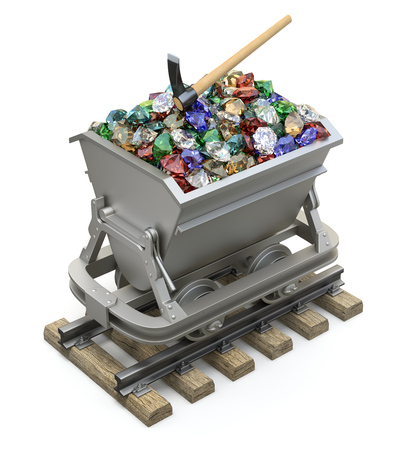 exploitation: Gems and diamonds in the mining cart