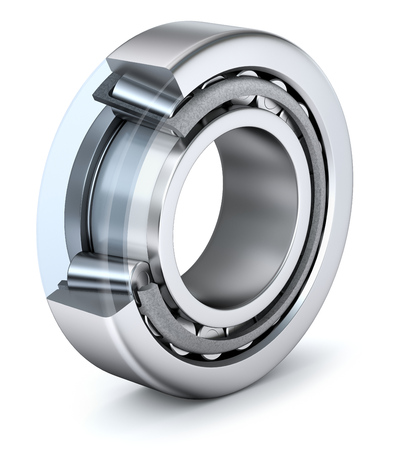 Tapered roller bearing with cross section