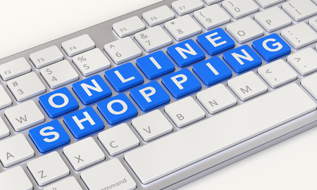 ebusiness: Online shopping concept with computer keyboard