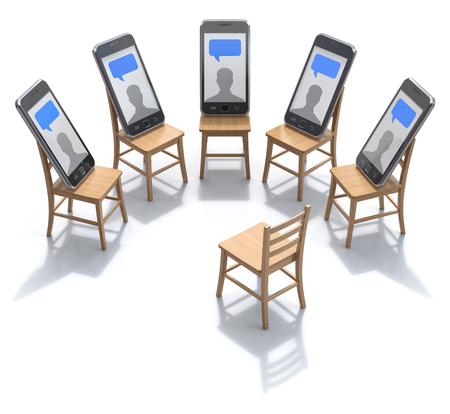 patients: Internet addiction treatment concept - 3D illustration