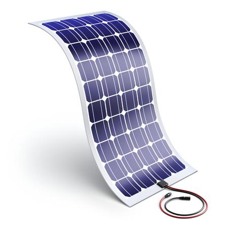 flexibility: Flexible solar panel - 3D illustration Stock Photo
