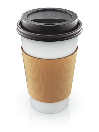 thermo: Take-out coffee in thermo cup with the lid - 3D illustration