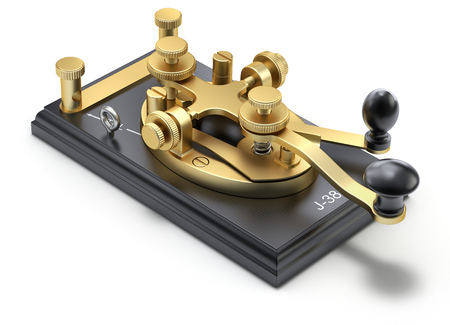 Morse code telegraphy device - 3D illustration