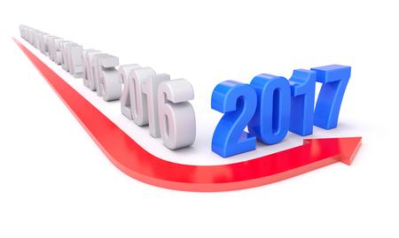 turnaround: 2017 year of turnaround concept - 3D illustration