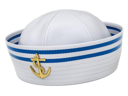 Sailor hat isolated on white background - 3d illustration