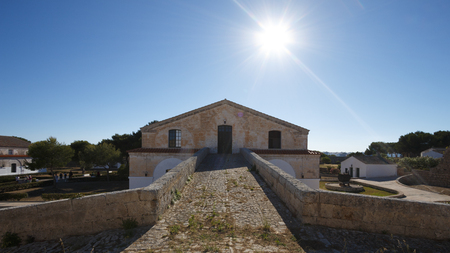 island of Lazareto in Menorca old quarantine hospital