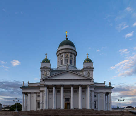 Helsinki cathedral during sunset on a warm summer evening 版權商用圖片
