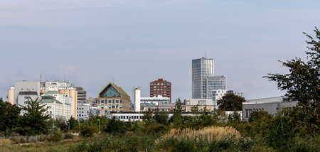 A new skyline in Malmö, Sweden, is slowly growing. Photo taken during summer 2019 Foto de archivo