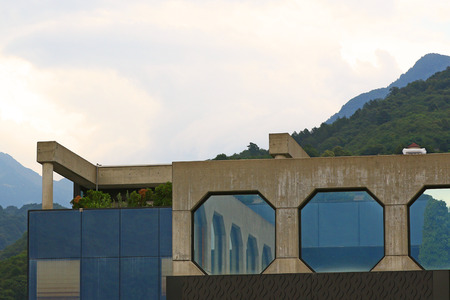 octogonal: Modern architecture with octagonal windows reflecting themselves