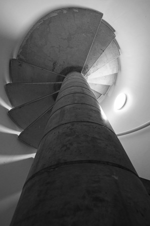 spiraling: Spiraling staircase with dizzying effect Stock Photo