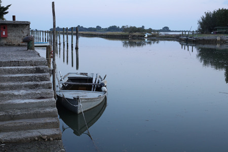 Time stands still after sunset in the venetian lagoon