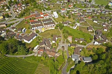 Aerial view of Cadenazzo, Ticino, Switzerland