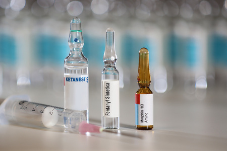 Pain management medications like ketamine, morphine and fentanyl that can lead to abuse and overdose