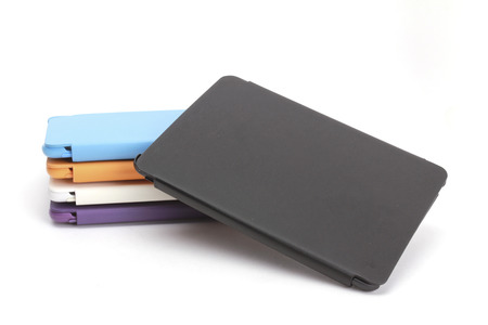 leatherette: Case for tablet. white background, more colour